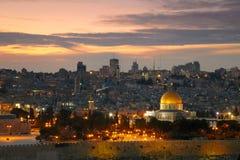 Vista à cidade velha de Jerusalem. Imagem de Stock