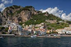 Vista à costa de Amalfi, Itália Fotografia de Stock
