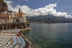 Vista à costa de Amalfi, Itália Fotos de Stock Royalty Free