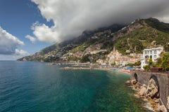 Vista à costa de Amalfi, Itália Imagens de Stock Royalty Free