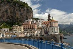 Vista à costa de Amalfi, Itália Fotos de Stock