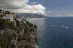 Vista à costa de Amalfi, Itália Imagens de Stock