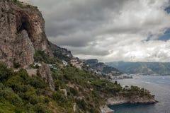 Vista à costa de Amalfi, Itália Foto de Stock Royalty Free