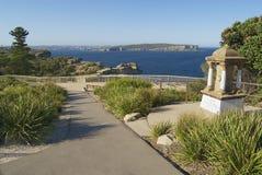 Vista à entrada ao porto de Sydney em Sydney, Austrália imagens de stock
