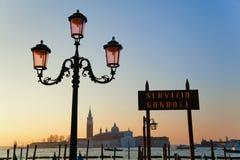 Vista à ilha San Giorgio Maggiore fotografia de stock