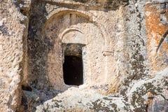 Vista à janela da igreja no vale de Phrygian Fotografia de Stock Royalty Free