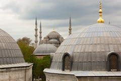 Vista à mesquita azul Imagens de Stock