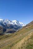 Vista à montanha a mais alta de Grossglockner em Áustria 3 798m Imagem de Stock
