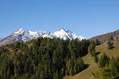Vista à montanha a mais alta de Grossglockner em Áustria 3 798m Foto de Stock