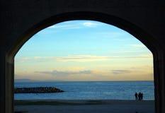 Vista à praia Fotografia de Stock Royalty Free