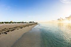 Vista à praia sul em Miami Imagens de Stock