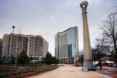 Vista à sede do centro do CNN e ao hotel de Omni Fotografia de Stock