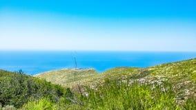 Vista à vista da montanha Imagem de Stock