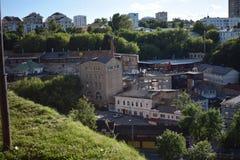 A vista às construções velhas foto de stock royalty free