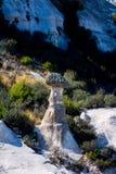 Vista às formações de rocha no vale de Phrygian Fotografia de Stock