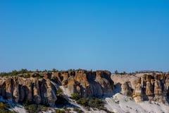 Vista às formações de rocha no vale de Phrygian Imagem de Stock Royalty Free