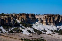 Vista às formações de rocha no vale de Phrygian Fotografia de Stock Royalty Free