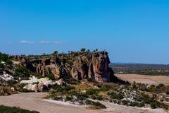 Vista às formações de rocha no vale de Phrygian Foto de Stock