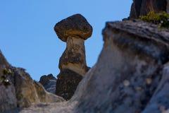 Vista às formações de rocha no vale de Phrygian Imagens de Stock