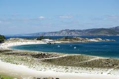 Vista às ilhas de Cies Foto de Stock Royalty Free