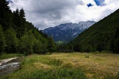 Vista às montanhas Fotos de Stock Royalty Free