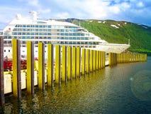 A vista é capturada na cidade de Tromso noruega imagens de stock royalty free