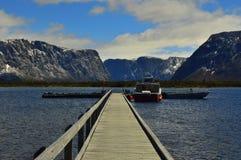 Vista épico no parque nacional de Grosmorne foto de stock royalty free