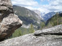 Vista única de Yosemite fotografía de archivo libre de regalías