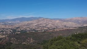 Vista εναέριο βίντεο Santa Ynez Καλιφόρνια σημείου απόθεμα βίντεο