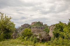 Vista των βράχων Belogradchik στοκ φωτογραφίες