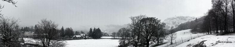 Vista χιονιού ανοίξεων Grasmere Στοκ Φωτογραφίες