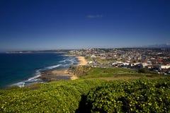 Vista 1 del litorale di Newcastle Fotografie Stock Libere da Diritti