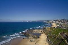 Vista 2 del litorale di Newcastle Fotografia Stock
