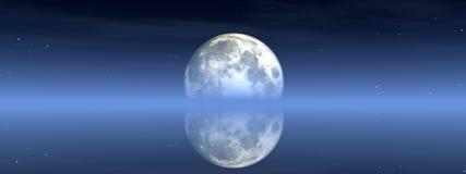 Vista 2 della luna Fotografia Stock