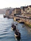 Vista 2 della riva del fiume di Oporto Fotografie Stock Libere da Diritti