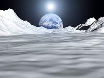 Vista 28 della luna Fotografia Stock Libera da Diritti