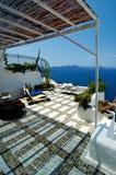 Vista 4 del vulcano di Santorini immagini stock