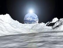 Vista 52 della luna Immagine Stock