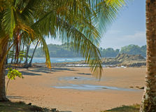 Vista 7 della spiaggia Immagini Stock