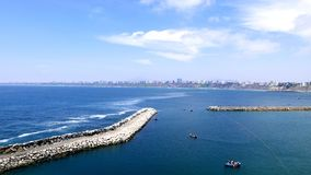Vista aérea à baía de Lima de Chorrillos fotos de stock royalty free