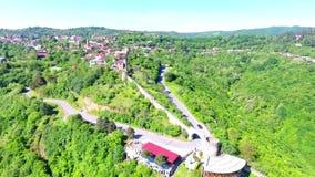 Vista aérea à cidade de Sighnaghi - cidade georgian Signagi na região easternmost do ` s de Geórgia de Kakheti Centro importante  vídeos de arquivo