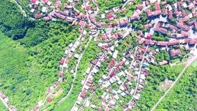 Vista aérea à cidade de Sighnaghi - cidade georgian Signagi na região easternmost do ` s de Geórgia de Kakheti Centro importante  filme