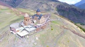 Vista aérea à cidade de Sighnaghi - cidade georgian Signagi na região easternmost do ` s de Geórgia de Kakheti Centro importante  video estoque