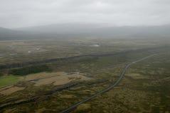 Vista aérea à falha tectonical Fotografia de Stock Royalty Free