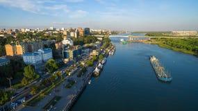 Vista aérea à terraplenagem de Rostov-On-Don Rússia Foto de Stock