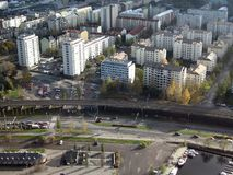 Vista aérea fotografia de stock royalty free