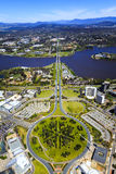 Vista aérea acima de Canberra Imagens de Stock Royalty Free