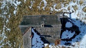 Vista aérea acima e do abandono de Idaho herdade filme