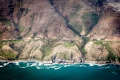 Vista aérea al camino imagenes de archivo