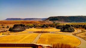 Vista aérea al pueblo cultural de Thaba Bosiu cerca de Maseru en Lesotho fotografía de archivo libre de regalías
